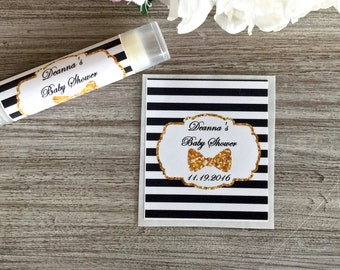 Bachelorette party favor labels, Bridal shower lip balm labels, Little Man baby shower favors, lip balm favor labels, Chapstick labels