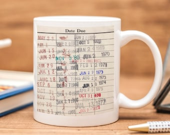 Library Card Coffee Mug - Librarian Gift - Coffee Cup Gift for Readers