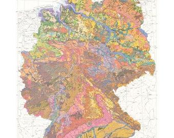 Geologic Map of Germany Print