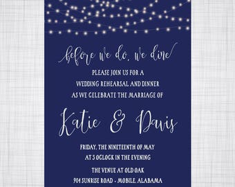 Rehearsal Dinner Invitation. Outdoor Wedding Invitation. Wedding Invitation. Tree Rings Invitation. Outdoor Party.