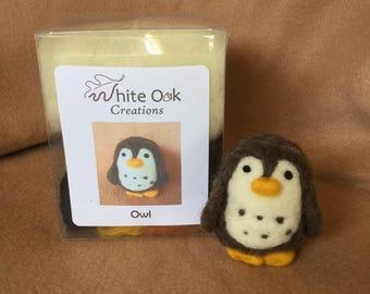 Easy Beginners Needle Felting Kit - Owl