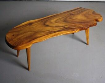 Stunning Mid Century Modern Monkey Pod Table