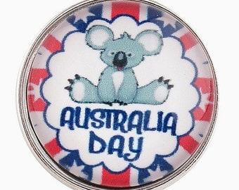 C0260  Australia Day Art Glass Print Chunk