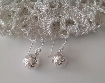 Sterling Silver Ball Earrings,