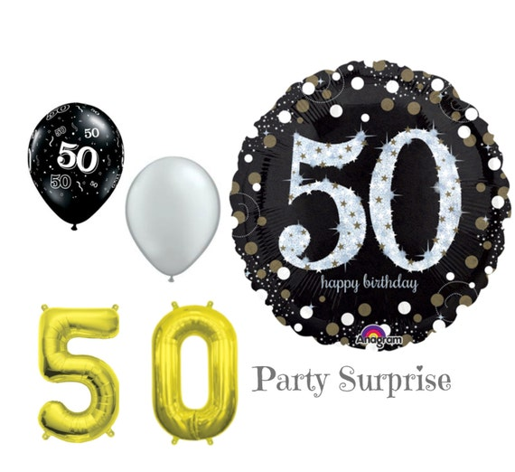 50th Birthday Balloons 50 Years Old Birthday Party Decorations