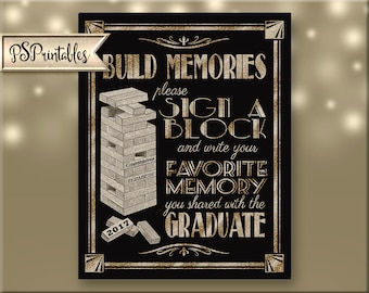 Printable Graduation Sign, 2017 grad sign, 2018 grad, 2019 grad, grad party decor, grad party 2107 graduate, graduation diy sign, BLACK GOLD