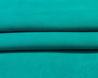 Blue suede fabric, turquoise genuine sheep suede, blue natural lamb skin, blue genuine  leather material, sold per piece, LAGOON 373, 1.3 mm