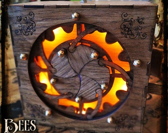 Steampunk Iris Box - Satchel Bag Prop - Clanger