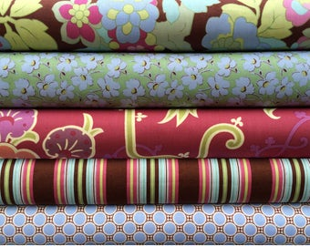 Amy Butler Gypsy Caravan BUNDLE ~ Grape Periwinkle Mocha ~ Fat Quarter or Half Yard ~ Designer 100% Cotton Fabric