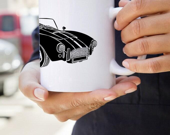KillerBeeMoto:  U.S. Made Shelby Cobra Limited Edition Vintage Sports Car Coffee Mug