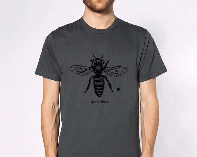 KillerBeeMoto: Honey Bee (Apis Mellifera) Pen Sketch Short & Long Sleeve Shirts