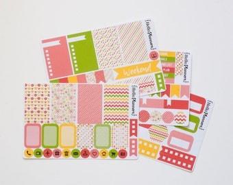 Weekly Planner Sticker Kit - Springtime