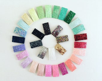 Glitter Snap Clips | Snap Clips | Toddler Hair Clips | Hair Clips | Hair Bows | Clip Set | Glitter bows | Glitter Clips | Glitter | Clips