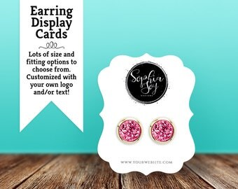 Earring Cards | Custom Earring Display Cards | Jewelry Cards | Earring Tags | Jewelry Display Cards | Bracket