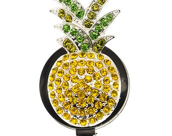 Pineapple ID Badge Reel - SassyBadge - Tropical ID Badge Pull - Retractable ID Badge - Nurse Gift - Teacher Gift - Lanyard
