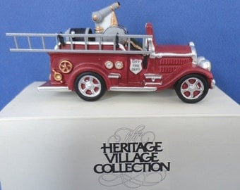 Dept 56 Fire Truck CIC City Fire Truck Retired Accessory