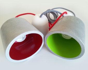 Concrete Lamp | Ceiling Lamp | Pendant lamp | Modern Lamp | Industrial Decor | Industrial Lamp | Lamp Bulb