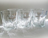 Frank Sinatra's 75th Birthday and Diamond Jubilee World Concert Tour Glasses (6 glasses total)