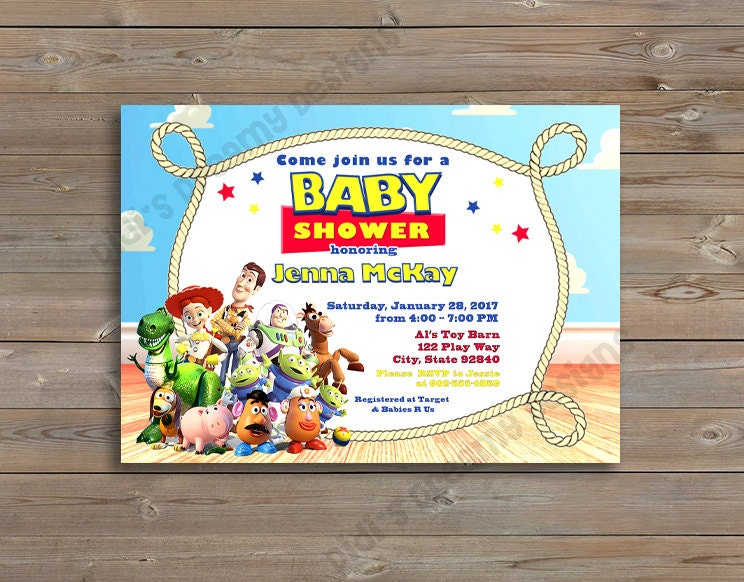 Toy Story birthday or baby shower Woody Buzz Lightyear disney