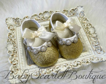 Gold Baby Girl Shoes,Infant Shoes