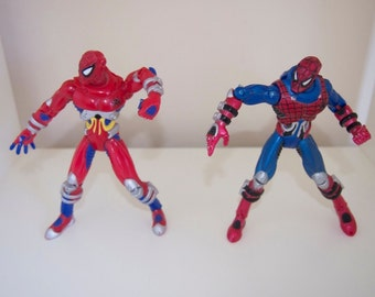 """Spider-Man Cybersect Force 1997 Marvel 5.5"""" Action Figure Toy Biz Lot"""