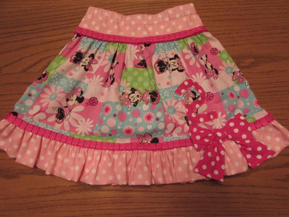Minnie Mouse skirt/Minnie Mouse birthday skirt/girls skirt/birthday skirt/Minnie Mouse/Disney skirt/Disney clothes/girls Disney skirt/