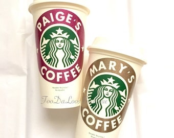 Personalized Starbucks Cup, Coffee Cup, Gift, Monogrammed Coffee Cup, Glitter
