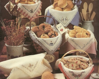 Leisure Arts:  Bread Cloths Cross Stitch Charts