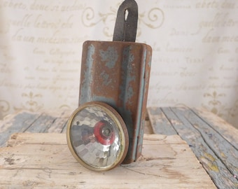 old flashlight, antiques , lamp, brocante, torch, bulb