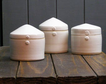 Lidded Pot - Hand Thrown Ceramics