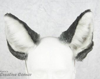 Cute Wolf Ears - Realistic Wolf Ears, Furry, Wearable ears, Head band ears, Wolf Cosplay, Wolf Costume, Made-to-Order