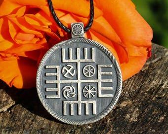 Las manos de Dios eslavo pagano colgante lata Perun joyería collar Eslava Polonia Polaco eslovaco Checo Ruso serbio mitología patrimonio paganismo