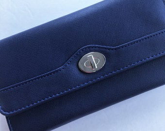 Cash Envelope Wallet - Dave Ramsey Envelope System Tabs Included -Royal Blue