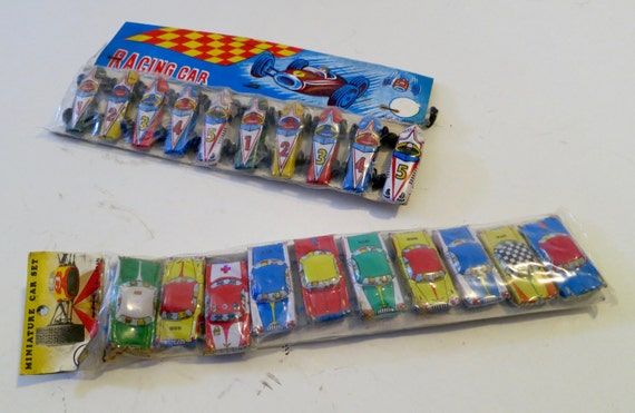 A Collection of 20 Miniature Vintage Tin Litho Cars