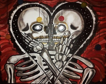 Art/Painting 16x20 Dead Lovers Painting Acrylic/Oil on Stretched Canvas!
