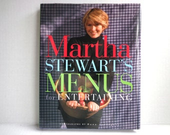 Martha Stewart's Menus for Entertaining, 1994 First Edition Cookbook, Hardcover with Dust Jacket