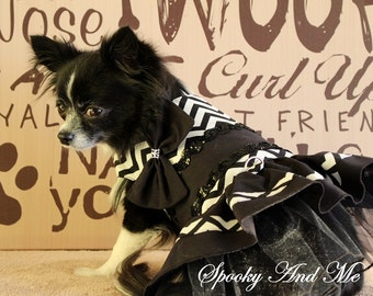 Dress stripes black and White - Black and white zig zag dress * ready to ship - Ready to ship *.