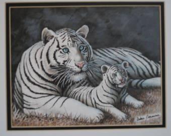 Siberian Tiger with Cub (neutral tones)