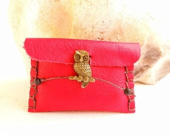 Travel Sewing Kit - Emergency Sewing Kit - Sewing Kit - Needle Case - Needle Book - Owl - Fox