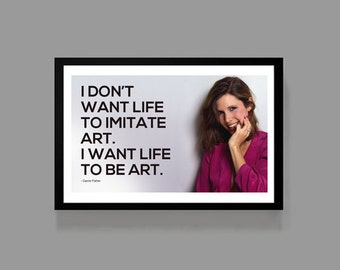 Carrie Fisher Poster Quote Print - Star Wars: Movie Princess Leia  - Art, Classic
