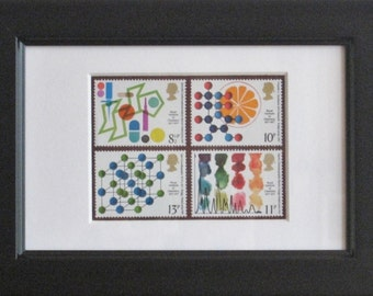 40th Birthday, postage stamps framed from 1977