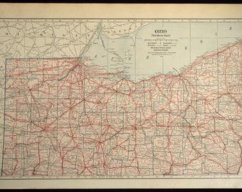 Mansfield Ohio Etsy - Map of northern ohio