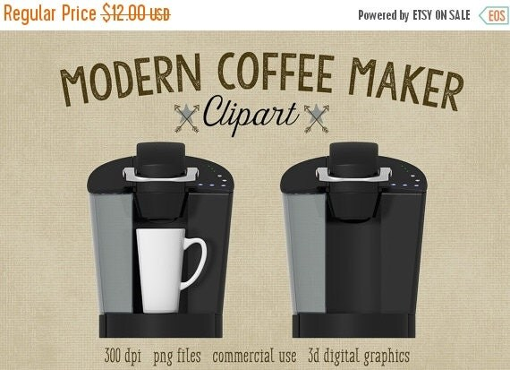 80% OFF SALE Coffee Clipart Kitchen Clipart by ScubamouseStudiosJr