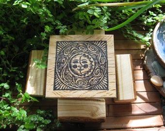 Fairy Garden Celestial Garden Table and Benches miniature fairy door cottage