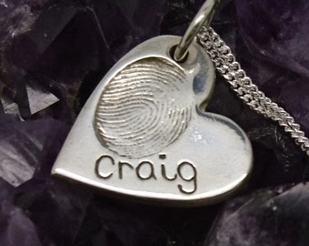 Personalised Fingerprint Jewellery/Pendant/Charm, Perfect Mothers day gift *FREE Reiki optional*