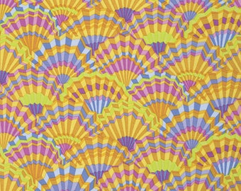 1/2 yard Paper Fans Limited Edition Yellow Kaffe Fassett GP143