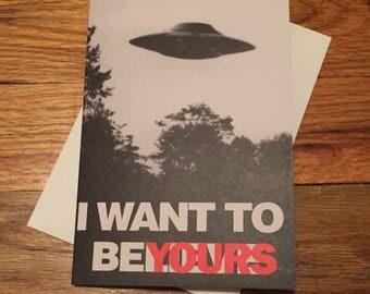 X Files Card