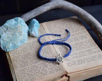 SALE! Nautical Bracelet. Hemp Bracelet. Anklet. Hippie. Boho Jewelry. For Him.