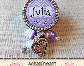 COTA Badge Reel, Retractable Badge Clip, Occupational Therapy Assistant, COTA Badge Holder, OT Department Gifts, Badge Id Pull, Scrapheart