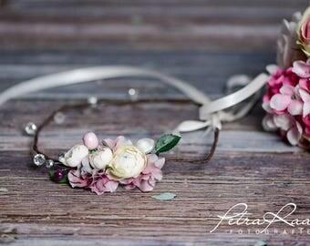 Flower wreath wedding hair accessories flower girl hair flower wedding flower wreath headband wedding boho A1